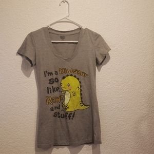 Tops - Gray Dinosaur Shirt